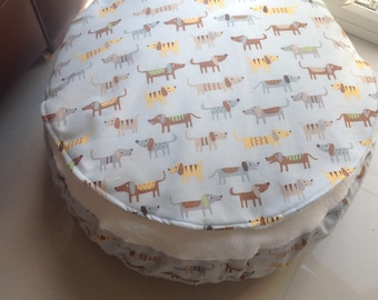 Luxury deep cover top bed cat bed dog bed dachshund fabric, sausage dog