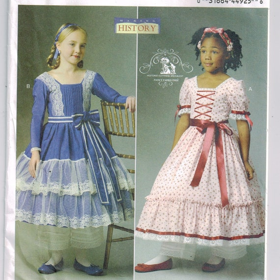 Southern belle Civil War era child\'s dress Colonial