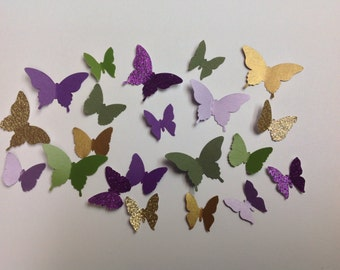 Beautiful 125  pc Paper Butterflies  Wedding   Reception  New Baby Shower Decorations