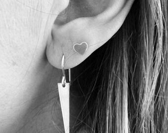 Striking Spike Sterling Silver Dangle Earrings – Spike - Long - Sterling Silver – Wire - Earrings - Everyday Wear