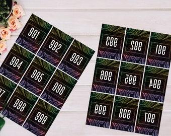 PRINTABLE Facebook Live Sale Numbers 001-999, Normal & Reversed Live Sale Number, Instant Download, AG033