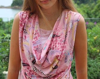 Knit top pattern, cowl top pattern, womens knit pattern, womens sewing pattern, ladies top pattern, cowl neck pattern, Sophia top pattern
