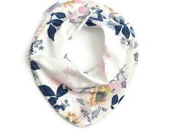 Baby bandana bib, baby bib, bandana bib, scarf bib, baby shower gift, baby girl bib, drool bib, scarf bib, baby girl bib, floral baby bib