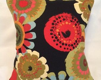 SALE!!! Multi Color Floral Pillow Cover, flowers, colorful, home decor