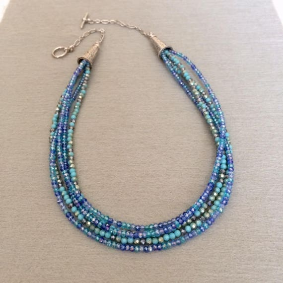 on necklaces multi turquoise beaded i like mitzimum jewelry strand fe santa best style pinterest necklace images