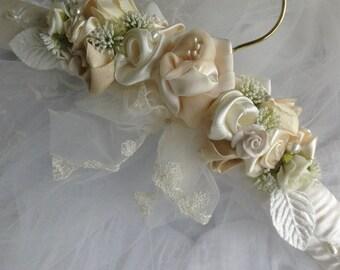 Wedding gown hanger.   Ball gown hanger.