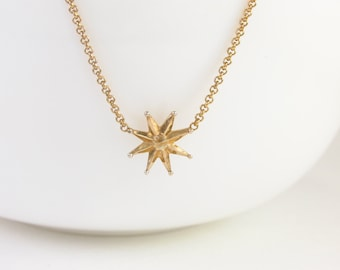 gold Star Necklace, Star Charm Necklace, Star gold Jewelry, dainty gold necklace, Celestial Necklace, Small gold Star, girlfriend gift,