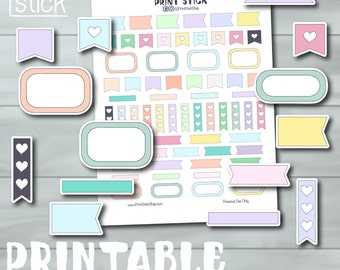 Sampler Stickers - Printable Planner Stickers for Erin Condren, Happy Planner and others!