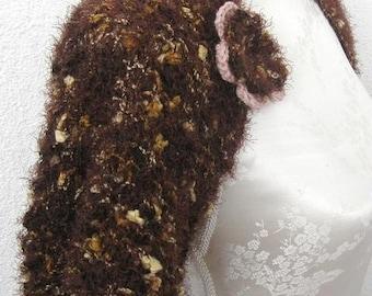Elegant Shrug, Bolero in Shoko brown, Chocolate, Brown extrem cozy