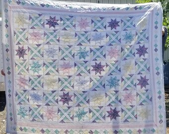 Pastel Vintage Patchwork Quilt