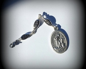 St. Francis Purse Fob - Zipper Pull - Backpack Attachment