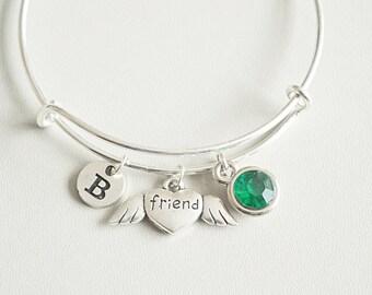 Friend Bracelet, Friend Bangle, Friendship Bracelet, Gift for friend, Birthday, Christmas, Friendship Jewelry, Friendship charm gift, BFF