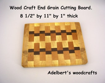 Handmade End Grain Cutting Board. Shipped priority mail 2 to 3 days delivery.