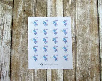Unity Unicorn Fairy, Unicorn fairy, character sticker, cute unicorn sticker, planner sticker