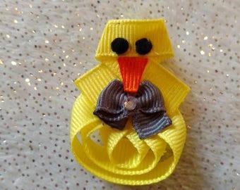 Bird Ribbon Sculpture Homemade Handmade Hair Bow Clip