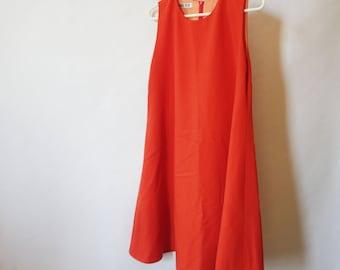 60s Style Orange Dress S M