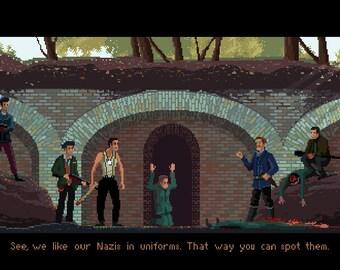 Inglourious Basterds pixel art small print