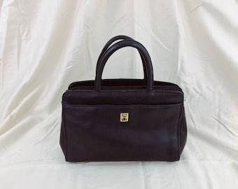 Vintage Ettiene Aigner Navy Handbag. Top Handle.