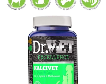 Kalcivet-vitamin and mineral supplement in dogs and  cats nutrition