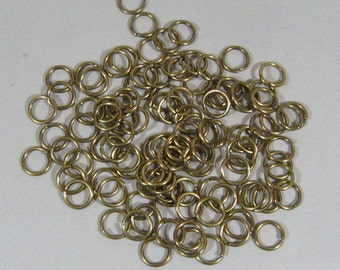 8mm Antique Brass Jump Rings - Choose Your Quantity