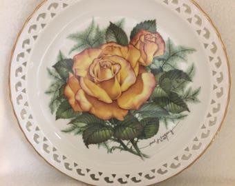 Hamilton Collection The American Rose Garden Collector Plate - 'Peace Rose' (#257)