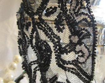 victorian beaded mesh one piece circlet, arm or cuff embellishment, Edwardian, early 1900's, re-creation,restoration, excellent condition