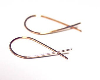 10k   wire curve earrings