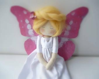 fairy gift stiped handmade rag doll original birthstone
