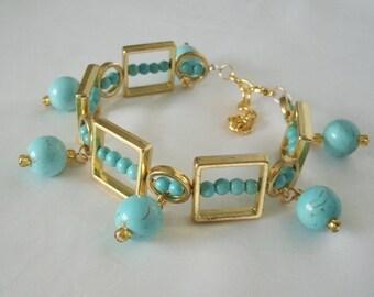 Turquoise Bracelet boho jewelry gypsy jewelry bohemian jewelry hippie jewelry hipster new age boho bracelet bohemian bracelet gypsy bracelet