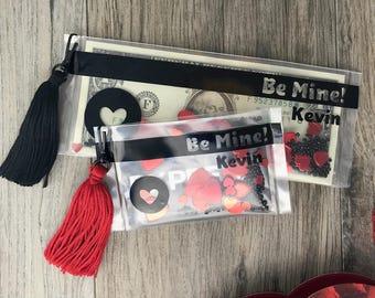 Be Mine Valentine's Money Holder, Valentine's Gift Card Holder, Personalized Valentine's Card, Custom Be Mine Valentine's Tassel Card