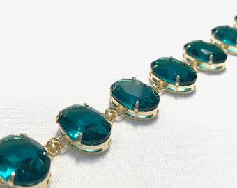 Paraiba Tourmaline Bracelet in 18k gold plated