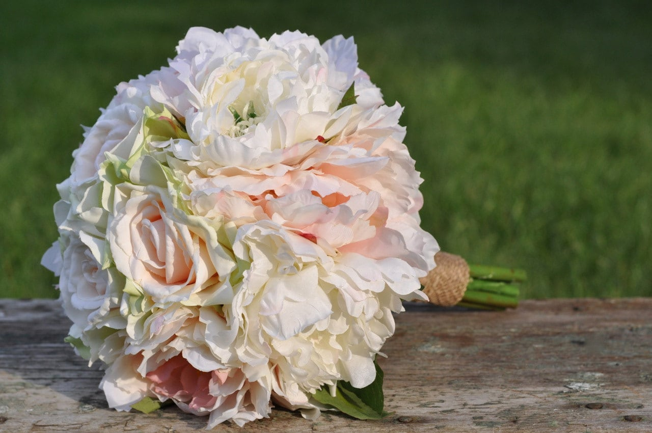 Wedding Bouquet Keepsake Bouquet Bridal Bouquet Blush Peony