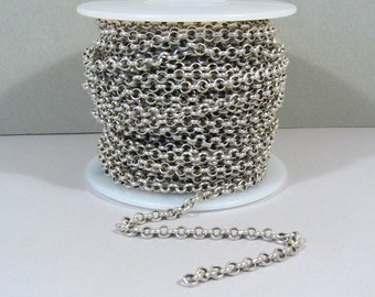 3.8mm Rolo Chain - Antique Silver - CH12 - Choose Your Length