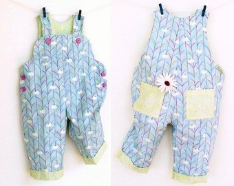 SWEET COMFY Baby Romper pattern Pdf sewing , Overall, Dungaree, children babies toddler, Baby Girl Boy 6 9 12 18 m 2 yrs Instant Download