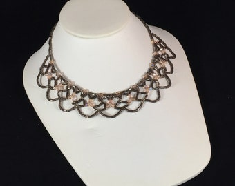 Lace Beadwoven Necklace