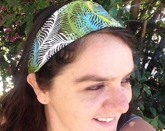 Reversible Green Fern Headband