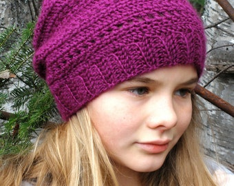 Instant download - PDF crochet pattern, crochet hat #4