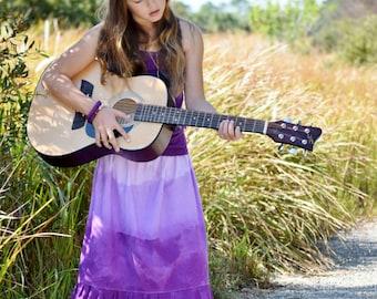 Girl's Maxi skirt - Boho maxi skirt - Toddler Maxi skirt - long skirt - tie dye skirt - Easter skirt - Bohemian skirt - purple skirt - maxi