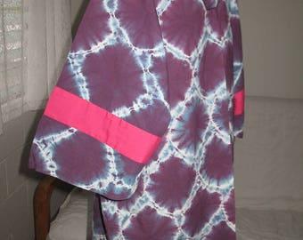 Vintage Krawatte gefärbt Pullover Unisex Lila Hemd