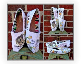 Bride's Love Story Shoes Unique Memory Wedding Shoes White Wedding Flats Personalized Gift Wedding Flats Wedding TOMS Outdoor Wedding