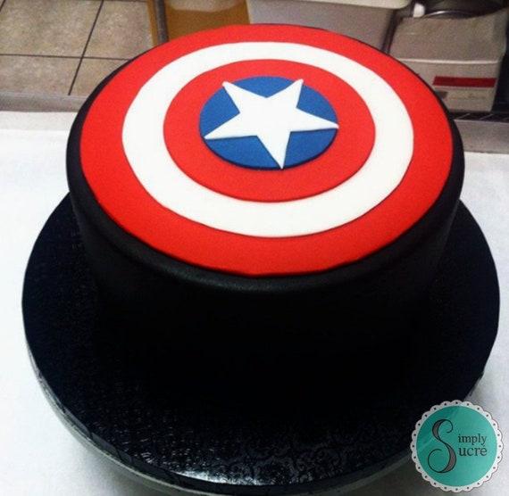 5 Captain America fondant shield Captain America
