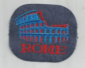Rome Italy Colosseum Authentic Retro Vintage 1970's Sewing Patch Applique