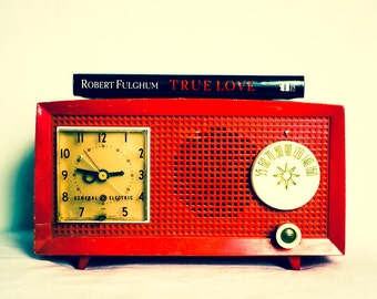 Fine Art Photography, Vintage Red Radio, Still Life Photo, Music, Red and Black, True Love, Audiophile, Modern Wall Art, For Him, Home Decor