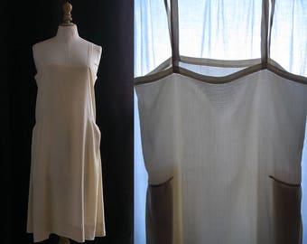 Vintage 1930's, Slip dress , silk off-white