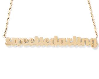 Sweetiedarling Gold Nameplate Necklace