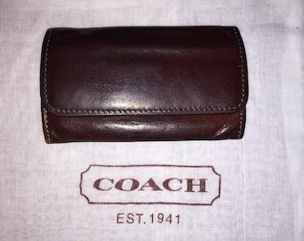 VINTAGE COACH Leather Key Case W/Dust Bag