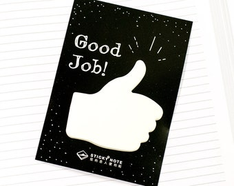 Sticky Note - Good Job | Cool Post It Note | Hand Note