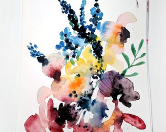 No. 28 Original 6x9 watercolor floral painting