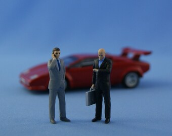 Special agents resin figures set for 1/43 scale die-cast models - RARE