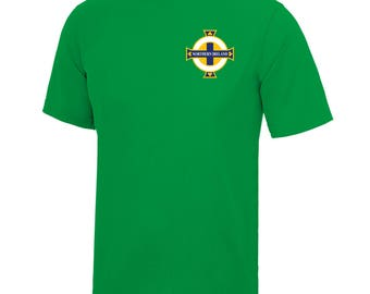 Adults and Kids Republic Ireland Eire Vintage Football Shirt with Personalisation - Green / White